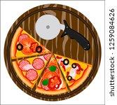vector illustration logo for... | Shutterstock .eps vector #1259084626
