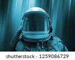 . helmet spaceman on... | Shutterstock . vector #1259086729
