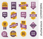 labels and tags with... | Shutterstock . vector #1259093896