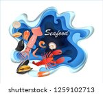 banners design seafood pages... | Shutterstock .eps vector #1259102713