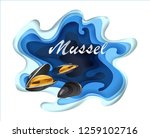 mussels fresh seafood... | Shutterstock .eps vector #1259102716