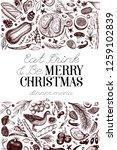 happy christmas dinner design... | Shutterstock .eps vector #1259102839