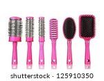 Comb Brushes  Isolated On White