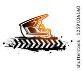 skull in a motocross helmet....   Shutterstock .eps vector #1259106160