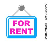 for rent icons | Shutterstock .eps vector #1259107099
