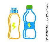 fitness shaker bottles  icon | Shutterstock .eps vector #1259107123