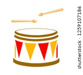 vector drum icon | Shutterstock .eps vector #1259107186