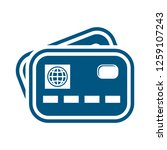 credit card icon | Shutterstock .eps vector #1259107243