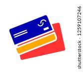 credit cards icon | Shutterstock .eps vector #1259107246