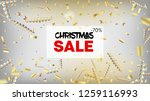 sale tinsel confetti isolated ... | Shutterstock .eps vector #1259116993