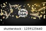 modern christmas tinsel... | Shutterstock .eps vector #1259125660