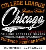 athletic sport typography  t... | Shutterstock . vector #1259126233
