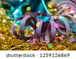 closeup of decorated carnival... | Shutterstock . vector #1259126869