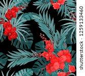 watercolor seamless pattern... | Shutterstock . vector #1259133460
