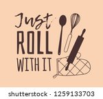 hand drawn illustration cooking ... | Shutterstock .eps vector #1259133703