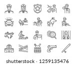 Police Line Icon Set. Included...