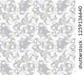 seamless damask pattern.vector... | Shutterstock .eps vector #1259136640