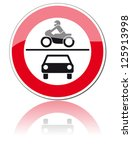 traffic sign forbidden entrance ... | Shutterstock .eps vector #125913998