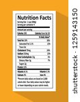 nutrition facts given on piece... | Shutterstock .eps vector #1259143150