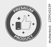 premium product word and thumbs ... | Shutterstock .eps vector #1259143159