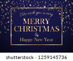 we wish you a very merry... | Shutterstock . vector #1259145736