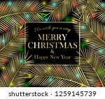 we wish you a very merry... | Shutterstock . vector #1259145739