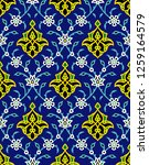 arabic floral seamless pattern... | Shutterstock .eps vector #1259164579