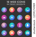 day of scouts icon set. day of... | Shutterstock .eps vector #1259174989