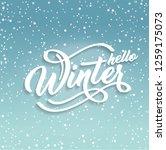 hello winter handlettering... | Shutterstock .eps vector #1259175073