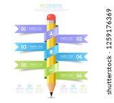 minimal business infographic... | Shutterstock .eps vector #1259176369