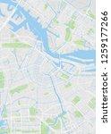 amsterdam city plan  detailed... | Shutterstock .eps vector #1259177266