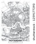 city map rotterdam  travel... | Shutterstock .eps vector #1259177293