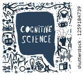 cognitive science handwritten... | Shutterstock .eps vector #1259184739