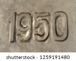 number 1950 marked in the... | Shutterstock . vector #1259191480