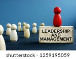 leadership and management... | Shutterstock . vector #1259195059