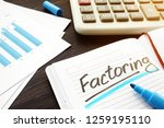 factoring written on a note and ... | Shutterstock . vector #1259195110