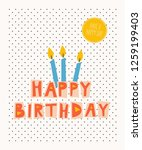 happy birthday greeting card | Shutterstock .eps vector #1259199403