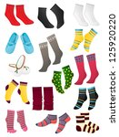 set of colored socks on a white ... | Shutterstock .eps vector #125920220