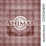 animal red seamless badge with...   Shutterstock .eps vector #1259204893