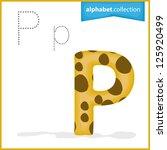 one letter of curve alphabet  ... | Shutterstock .eps vector #125920499