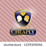 golden badge with couple in...   Shutterstock .eps vector #1259205046