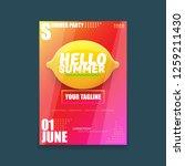 vector hello summer beach party ...   Shutterstock .eps vector #1259211430