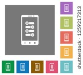 mobile fine tune flat icons on... | Shutterstock .eps vector #1259217313