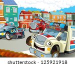 the emergency team  ... | Shutterstock . vector #125921918