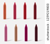 make up pencil  realistic... | Shutterstock .eps vector #1259219803