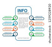 vector infographic template for ... | Shutterstock .eps vector #1259228920