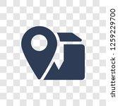 delivery destination icon.... | Shutterstock .eps vector #1259229700