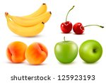group of fresh colorful fruit....   Shutterstock .eps vector #125923193