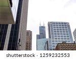 clouds over skyscrapers in... | Shutterstock . vector #1259232553