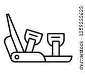mountain shoe spike icon....   Shutterstock .eps vector #1259233633